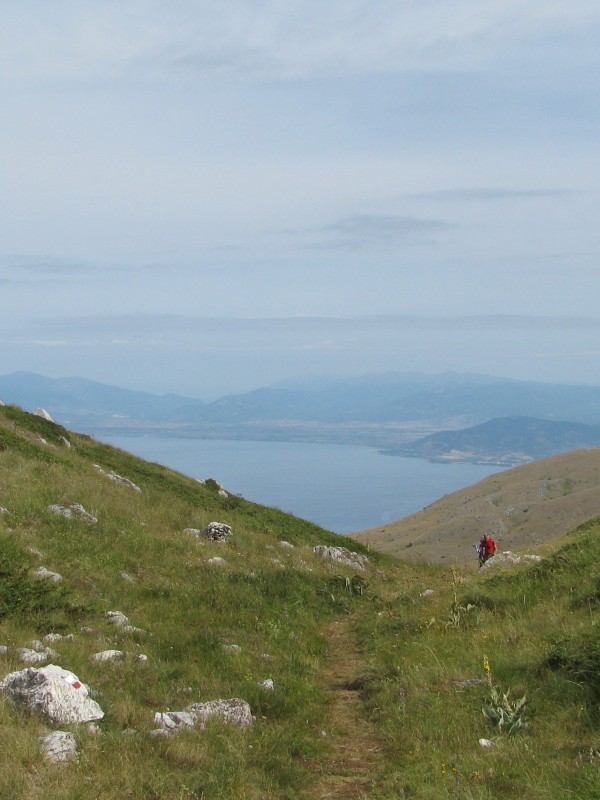 Ohrid lake hiking
