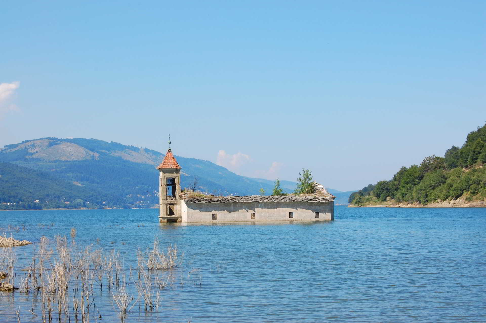 Mavrovo lake church