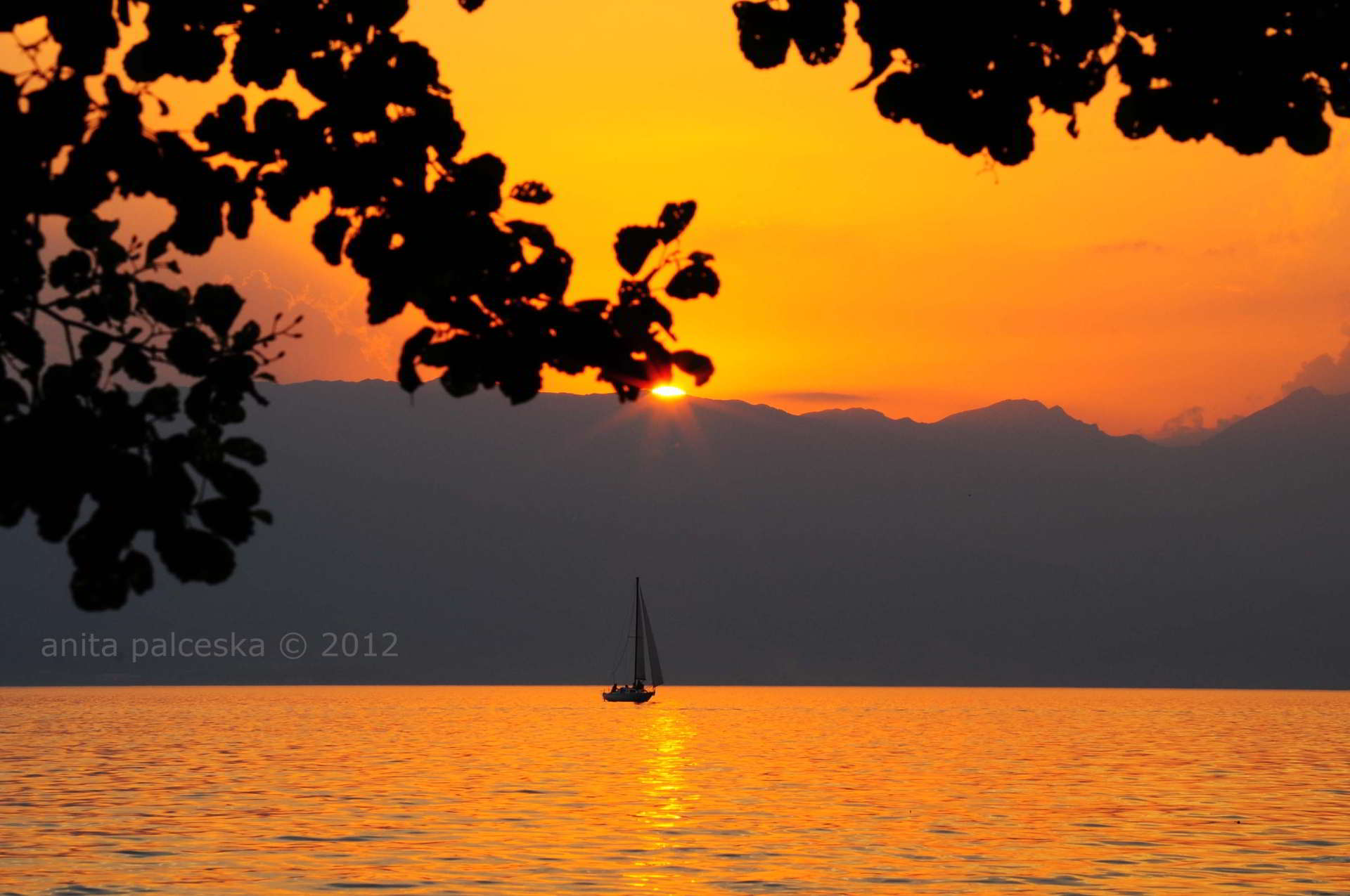 Sunset in Ohrid