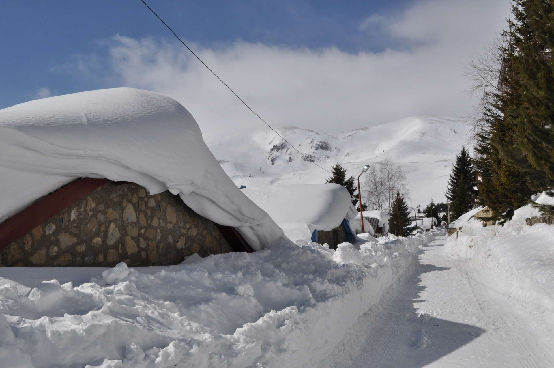 House in snow Macedonia