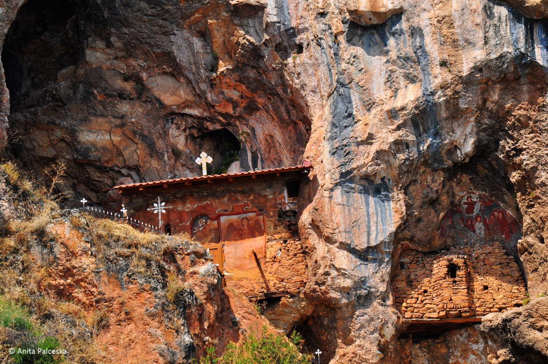 Saint Atanasius cave church Struga
