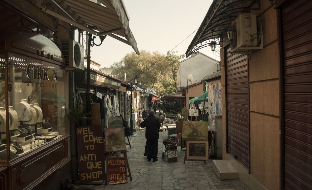 Antique Shop Old Bazar Time for Macedonia Naum Doksevski