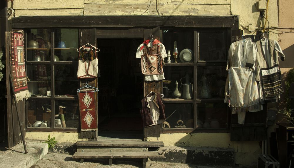 Old Bazar Shop Time for Macedonia Naum Doksevski