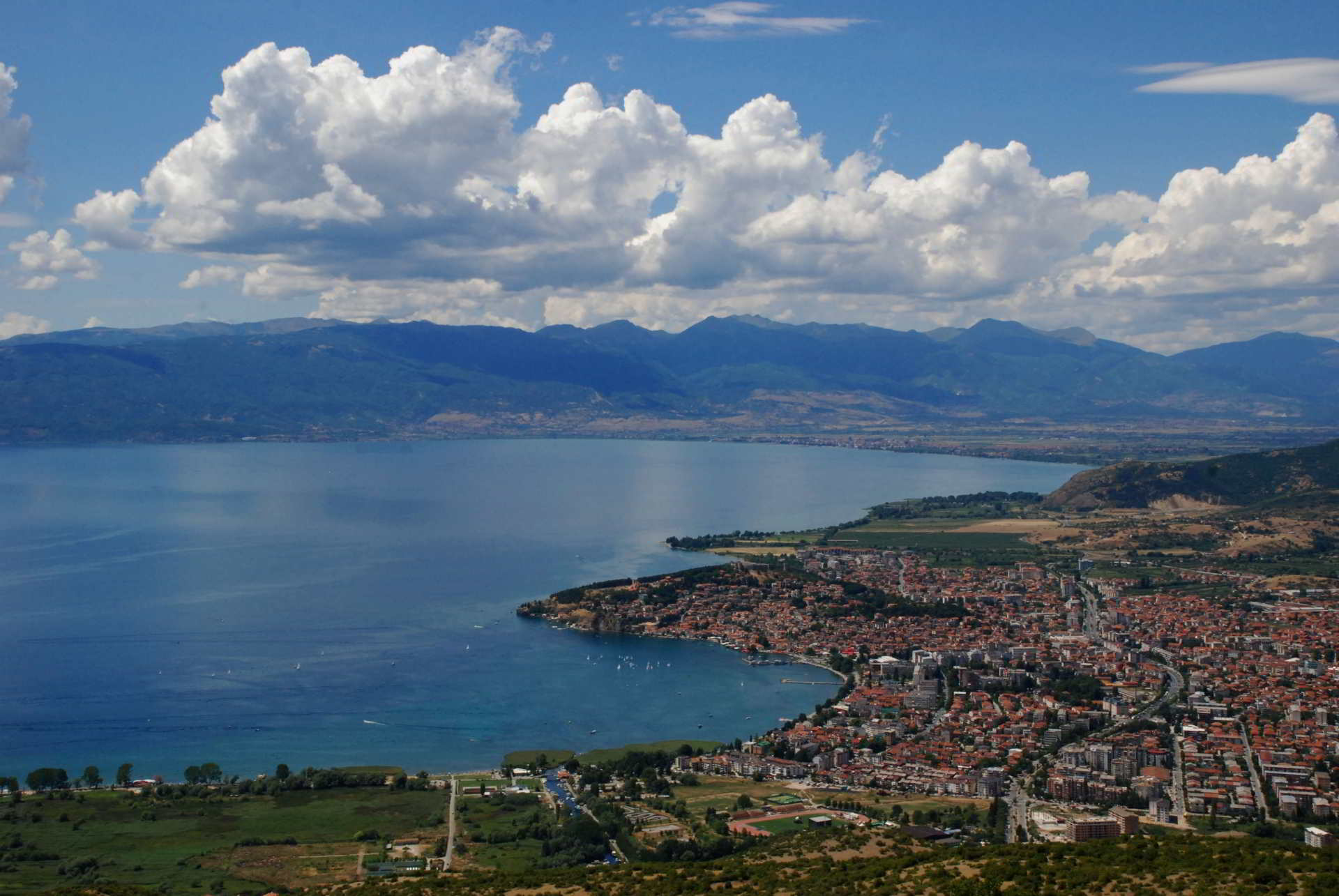 Ohrid town from above