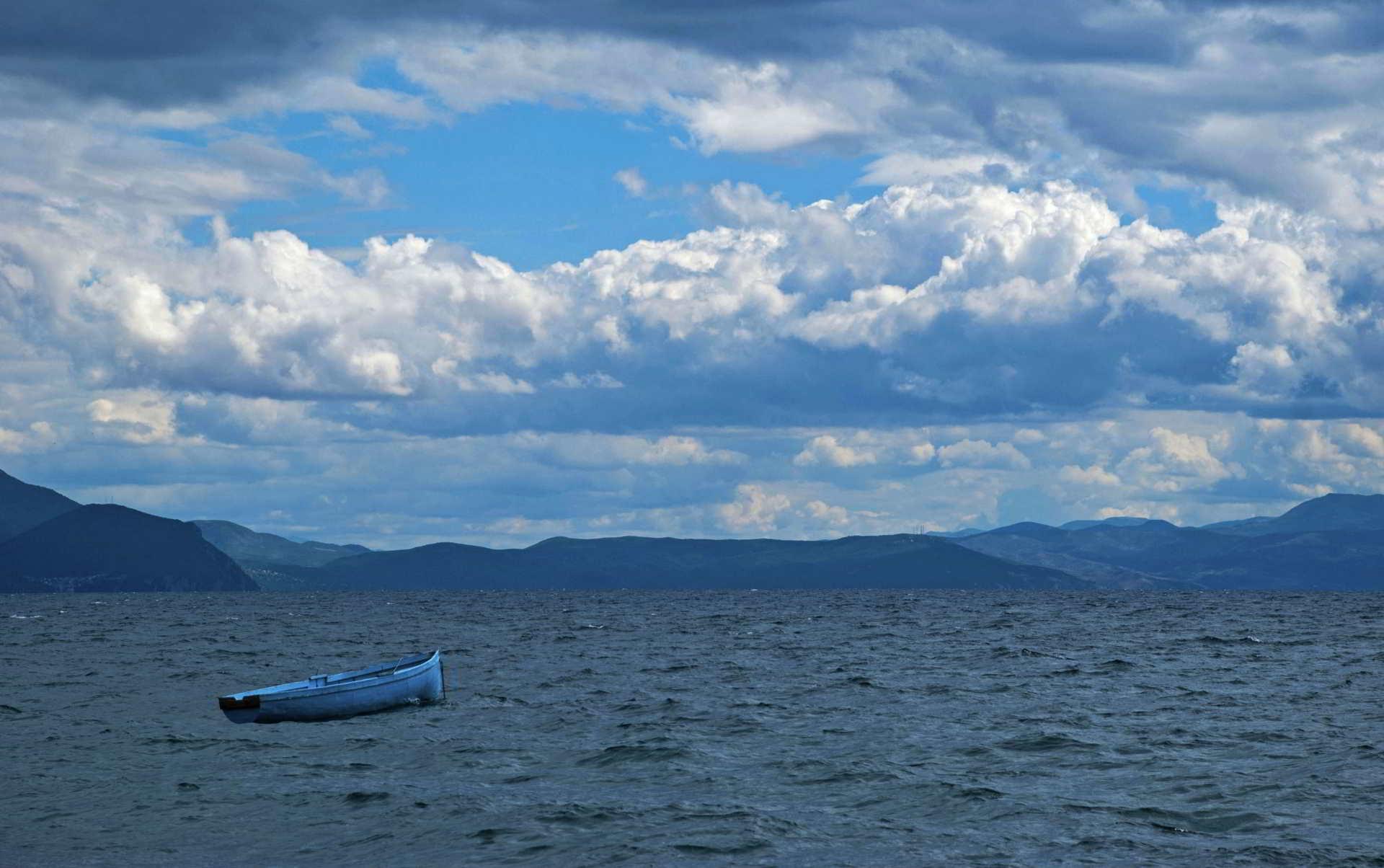 Ohrid lake storm